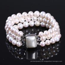 Pulsera brazalete de perlas agua dulce Wowen