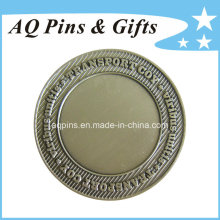 Desafíe la moneda con la galjanoplastia de plata antigua (coin-091)