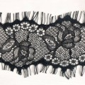 Black Nylon Eyelash Lace Trim