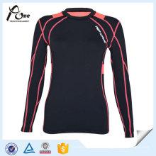 Dame OEM Sport-kalte Kompression Hemden Kompressions-Kleidung
