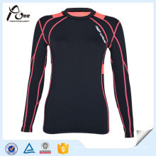Chemises de compression à froid de sports d'OEM de Madame