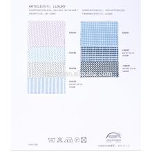 indischer 100% Baumwolle 60er Jahre Hemdstoff im Jacquard-Design