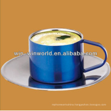 Wholesale Customized Stainless Steel Stackable Coffee Mugs With Rack