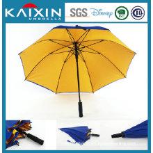 Customized Logo Fiber Glass Golf Umbrella with Double Layers