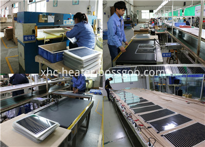 heating film and pad production and aging-2