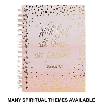 GOLD FOIL DOTS COVER SPIRAL NOTEBOOK-0