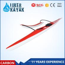 Single Seat fibra de carbono / fibra de vidro Surfski Kayak Racing Outrigger canoa com flutuador