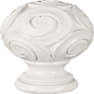 White Resin Hook Pattern Ball