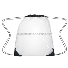 New cheap clear transparent PVC drawstring backpack