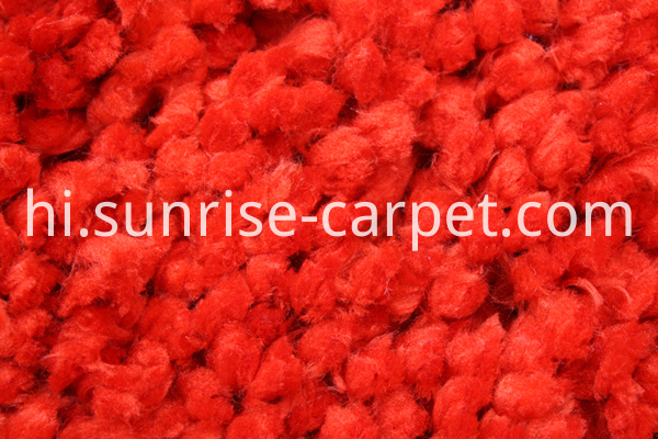 Polyester Flooring Rug Carpet in Red color