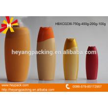 Capacidad diferente de la botella del champú del pelo de HDPE