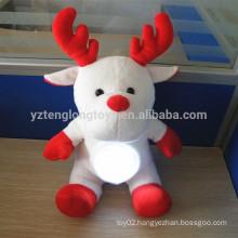 Custom Christmas reindeer shaped light up toy led light toy