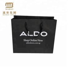 разумная цена поставщика фабрики изготовленный на заказ толщина новый дизайн черный крафт-бумага сумки с ручкой
