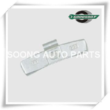 Revestimento de poliéster epóxi, Super qualidade, aço / Fe Clip em roda de pesos de equilíbrio para a roda de aço (caminhão)