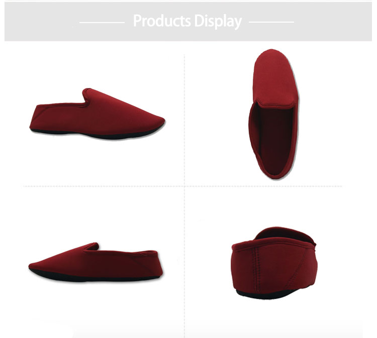 bedroom burgendy shoes slippers for women