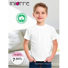 Miorre ОЕМ детский мальчика хлопок классический с коротким рукавом Белый Топ Футболка