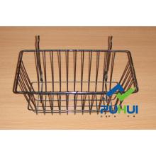 Metal Wire Slatwall Basket (PHH116A)