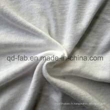 T-shirt à rayonne de lin à tricoter Jersey (QF13-0280)