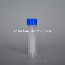Plastic 0.5ml Cryovial / Cryo tube with self standing bottom