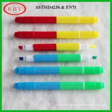 Mini size dual tips LED board fluorescent marker