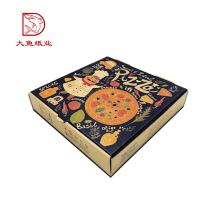 Novo design quadrado fábrica direta caixa de impressão caixa de pizza personalizado