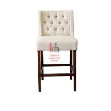 White Buttoned High Chair