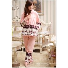 Venta caliente tamaño completo juego de pijamas de las mujeres para casa Relax desgaste de invierno