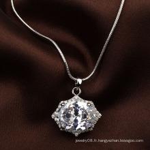 Bijoux italiens bling bling cz collier pendentif grand collier pendentif en zircon