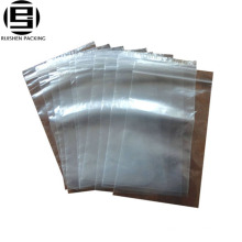 Clear pe plastic slider zipper ziplock bag for food with adhesive type