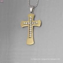 Factory price crystal cross pendant,crystal gold cross pendant,stainless steel pendants wholesale