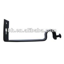 CB029 beautiful single iron curtain rod brackets/ holders/crutch/stand for curtain rod 25mm and windows & home decor
