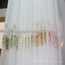 Guangdong bordado sheer cortina
