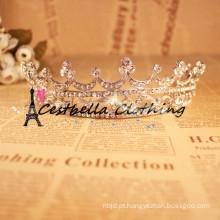 Luxo de ouro de cristal Tiara Crown Acessórios de cabelo de casamento Bridal Hair Jewelry