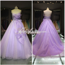 1A469 популярные для фотостудии девушки цветка линии и кружева аппликация свадебное платье развертки поезд свадебное платье 2016