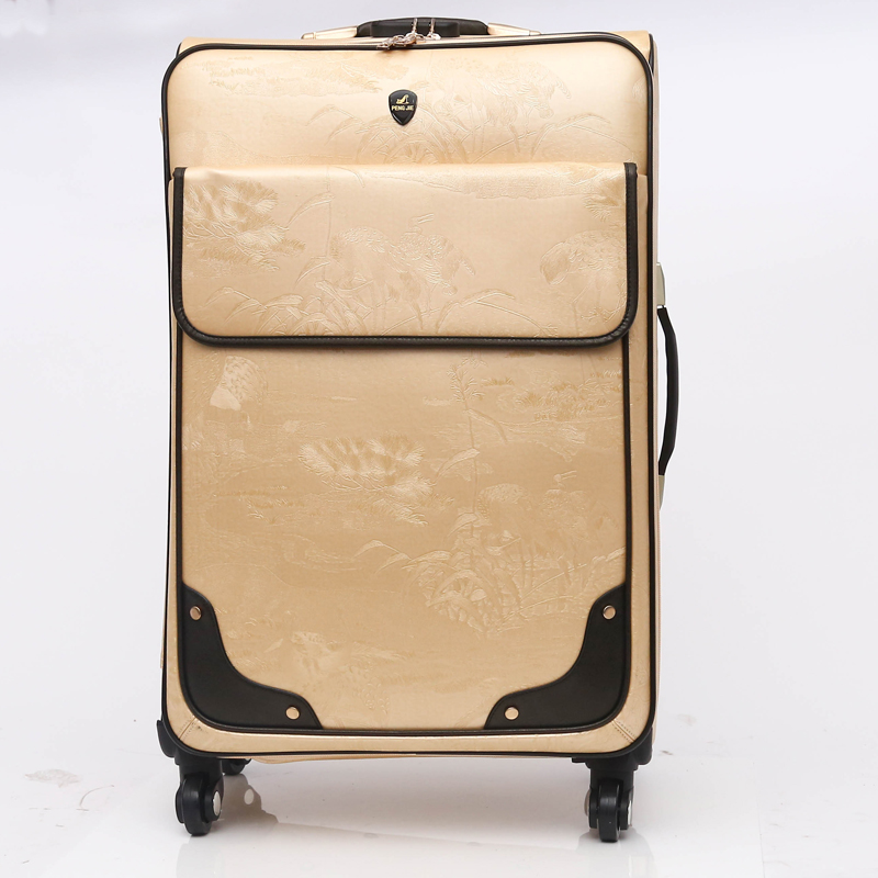 Great quality PU genuine leather business leisure luggage