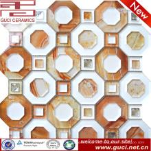 Nuevo diseño mosaico de azulejos de vidrio en acrílico para la tienda de decoración de la pared