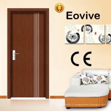 Bonne qualité bon marché porte en bois MDF intérieur PVC porte