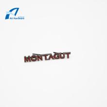 Пользовательские декоративные буквы логотипа металлическая этикетка для сумки