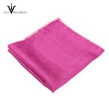 Homens baratos terno quadrado de bolso de algodão de impressão personalizada para homens