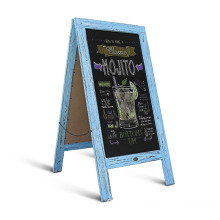 "Robin blue Large 40"" x 20"" Sturdy Sandwich Board shabby A Frame Restaurant Message Board"