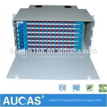 Aucas Manufacture 12 24 48 Port Optical Fiber Patch Panel ODF