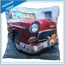 Vintage Car Printed Polyester Throw Pillow