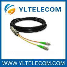 FTTH CATV óptica fibra impermeable flexible cable impermeable de la fibra óptica flexible de conexión