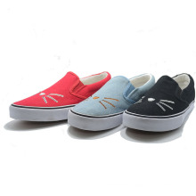 Cat Style Alip-Ons Round Canvas Casual Women Men Student Shoes