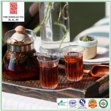 chunmee tea in red colour with black tea blending -red tea