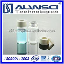 Флакон из прозрачного стекла для хранения 20мл с 24-400 открыть белый PP крышка для хранения флакон 27.5x57mm