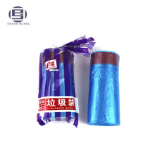 Pack drawstring garbage rubbish bags on roll