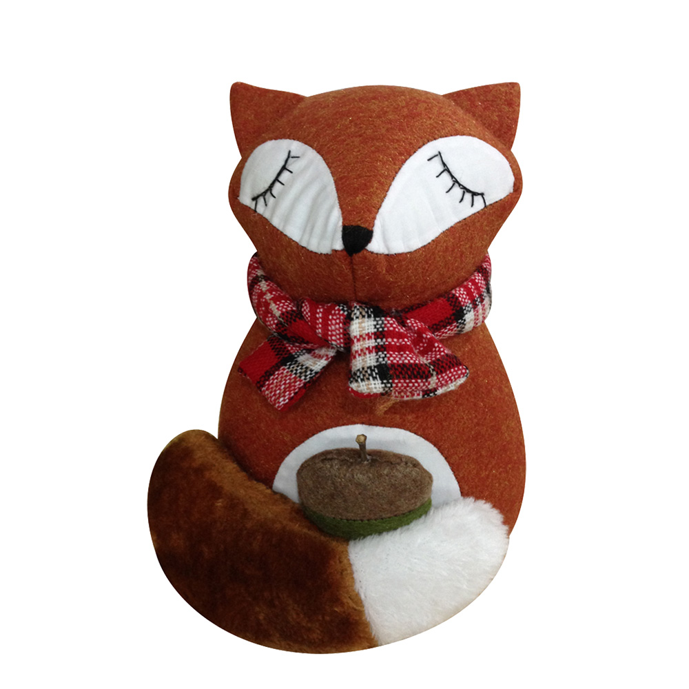 Cute Fox Shape Christmas Door Stopper