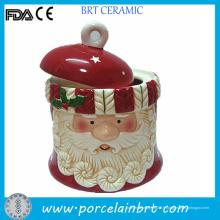 Vente chaude Noël père cadeau Cookie en céramique Jar