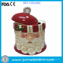 Hot Sale Christmas Father Gift Ceramic Cookie Jar